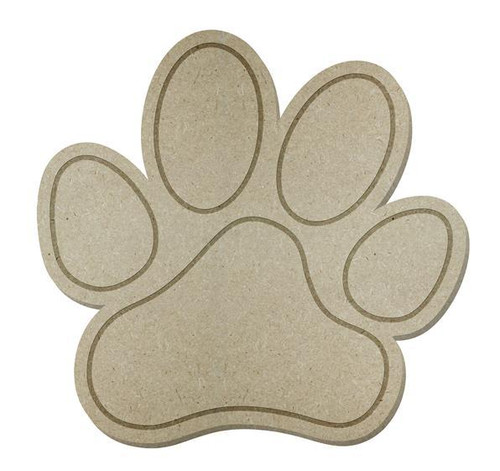 "12"" Paw Print, Unfinished"