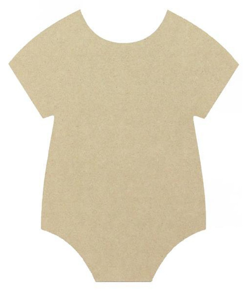 "12"" Baby Onesie Cutout, Unfinished"