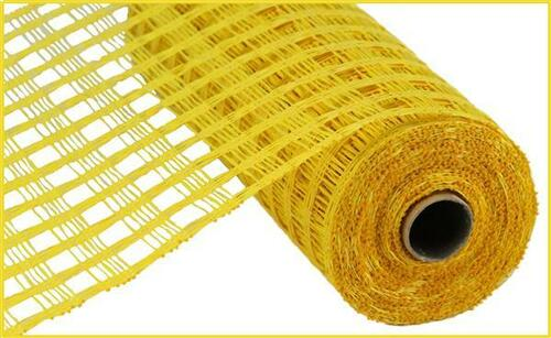 "10"" Poly Burlap Weaved Mesh: Yellow"