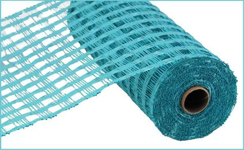 "10"" Poly Burlap Weaved Mesh: Turquoise"