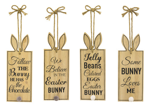 "16"" Easter Bunny Saying Tag Signs"