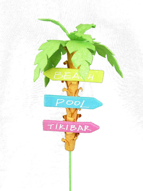 Palm Tree Tiki Bar Sign Pick