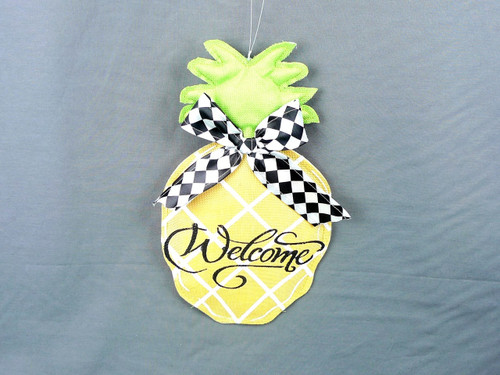 Canvas Pineapple Welcome Hanger