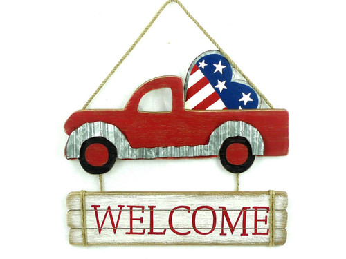 Patriotic Welcome Truck Sign