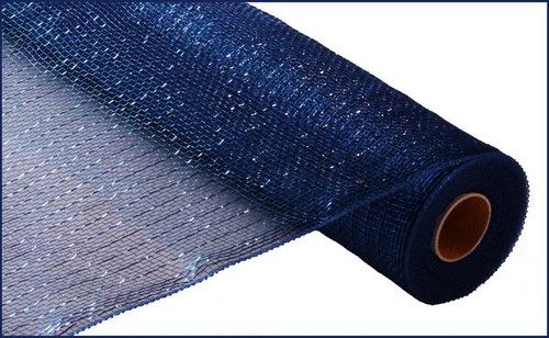 """Metallic Navy Blue with Royal Blue Foil - 21"""" X 10Yd (RE100157)"""