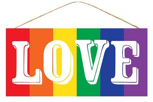 "12.5"" LOVE Rainbow Sign"