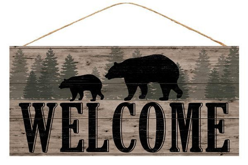 "12.5"" Welcome Sign with Bears"