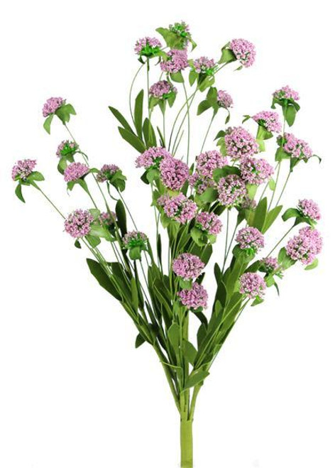 "23"" Mini Bead Ball Flower Bush: Lt Pink"
