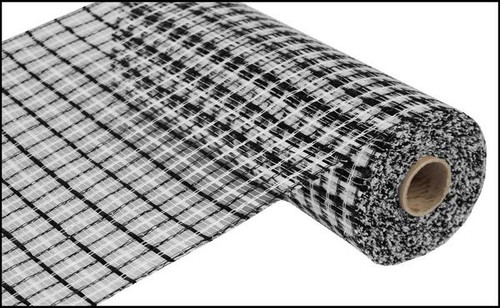 """White and Black Basket Weave - 10"""" x 10Yd (RE1356FF)"""
