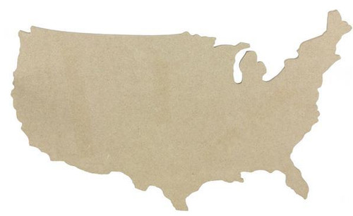 "14.5"" Mdf Map of United States"