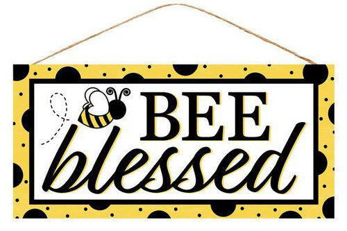 "12.5"" Bee Blessed Sign"