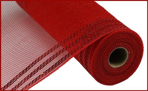 "10.5"" Metallic Border Mesh: Red/Red"
