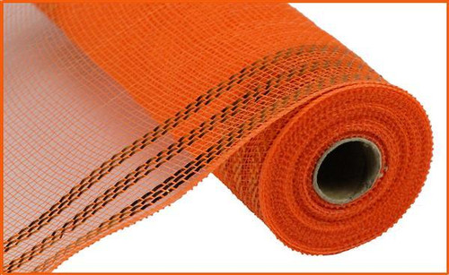 "10.5"" Metallic Border Mesh: Orange/Orange"