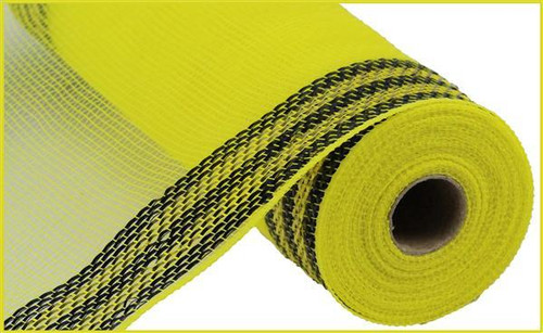 "10.5"" Metallic Border Mesh: Yellow/Black"
