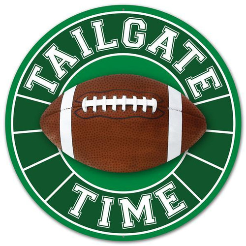 "12"" Metal Tailgate Time Football Sign"
