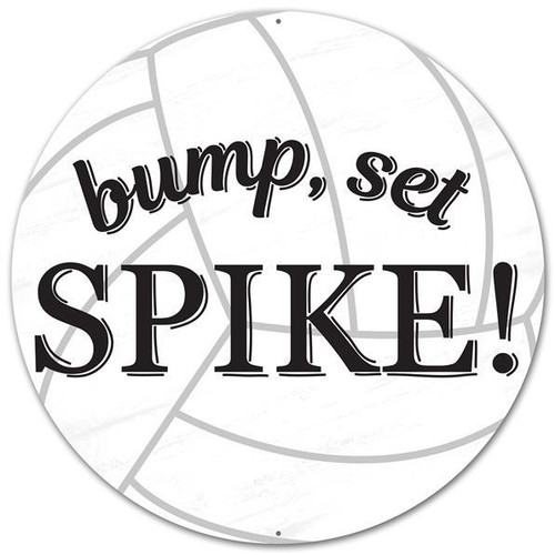 "12"" Bump Set Spike Volleyball Sign"