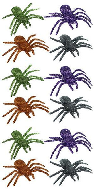 "Bag of 3"" Glitter Spiders (12)"