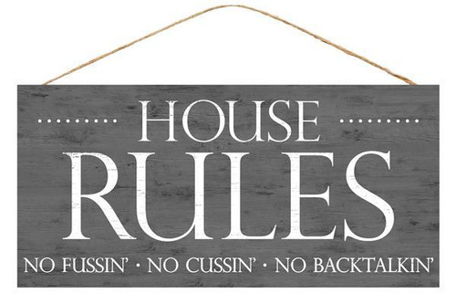 "12.5"" House Rules Sign"