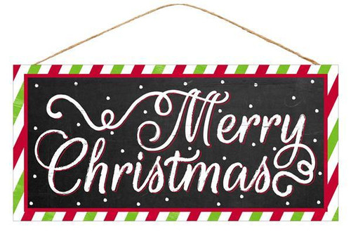 "12.5"" Chalkboard Look Merry Christmas Sign"