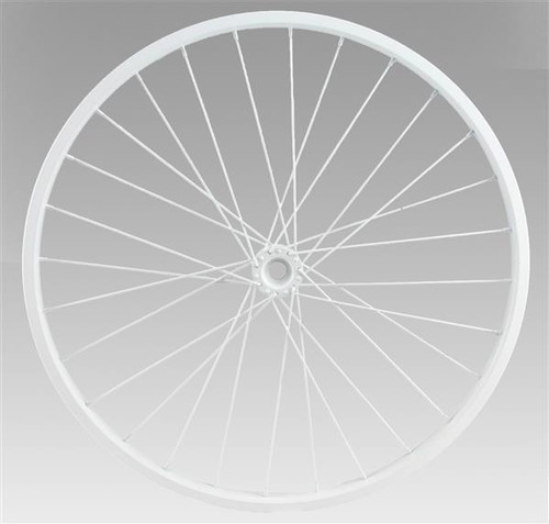 "16.5"" Decorative Bicycle Wheel: White"