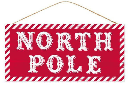 "12.5"" North Pole Sign"