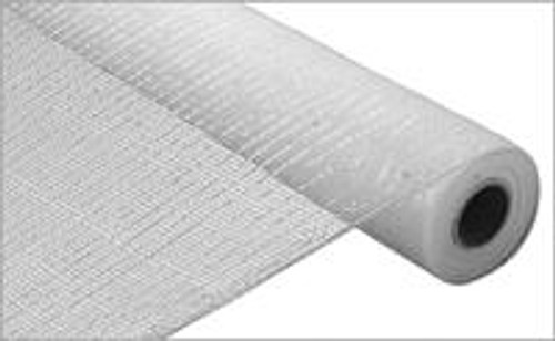 """White with White Foil - 21"""" X 10Yd Deco Mesh"""