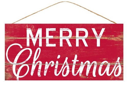 "12.5"" Red Merry Christmas Sign"