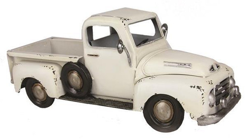 Vintage Truck Planter: Antique White