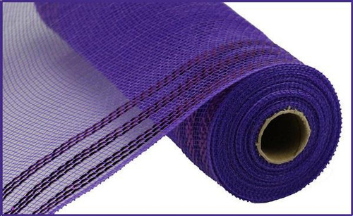 "10.5"" Metallic Border Mesh: Purple"