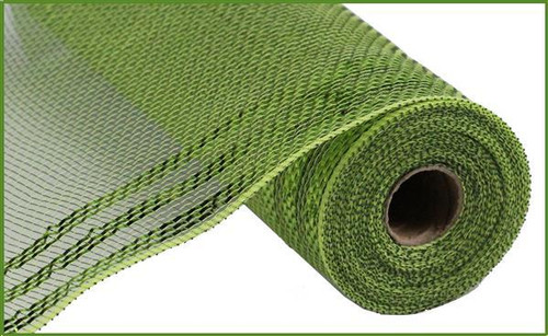 "10.5"" Metallic Border Mesh: Moss/Apple Green"