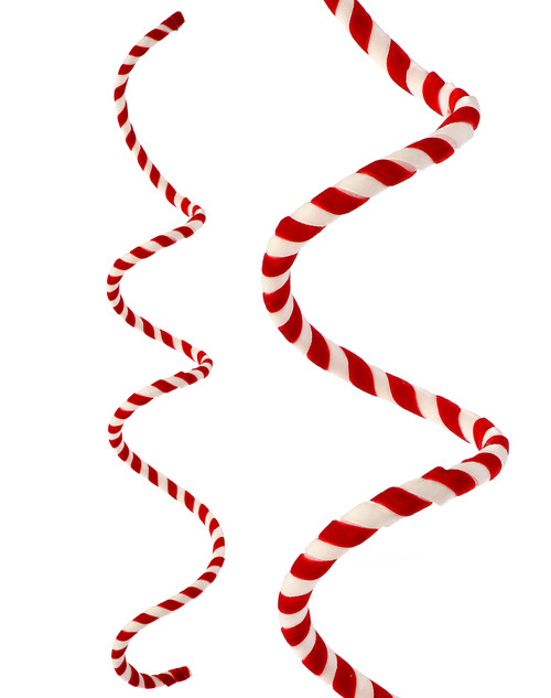 """48"""" Wired Velvet Candy Cane Rope Garland"""