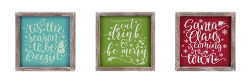 Frosty Winter/Christmas Box Frame Signs