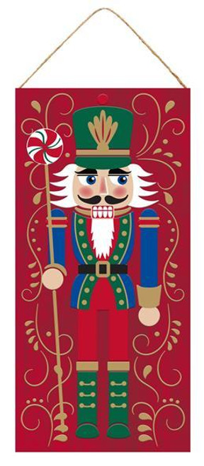 "12.5"" Nutcracker Christmas Sign: Red"