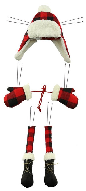 Buffalo Check Lumberjack Wreath Decor Kit