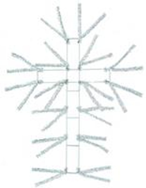"20"" Pencil Work Cross Form White"