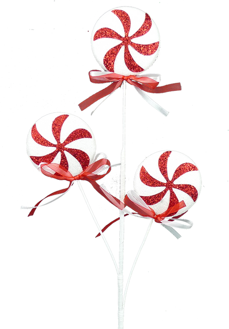 """27"""" Peppermint Spray (3): Red/Wht"""