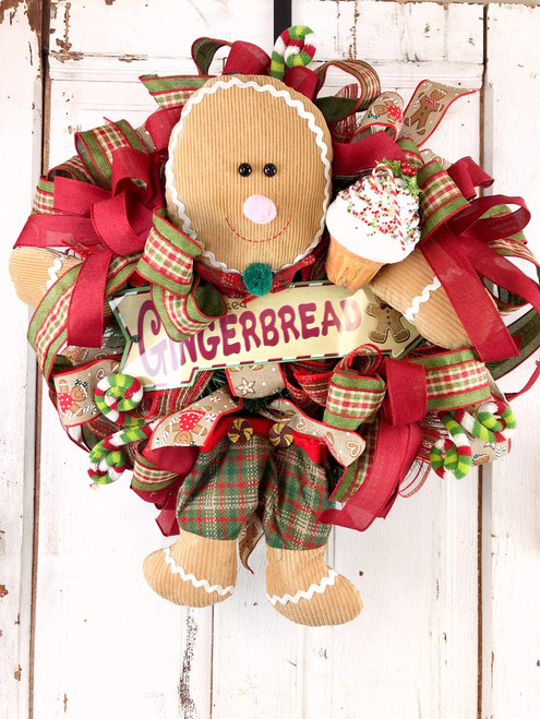Gingerbread Boy Wreath - Free Shipping