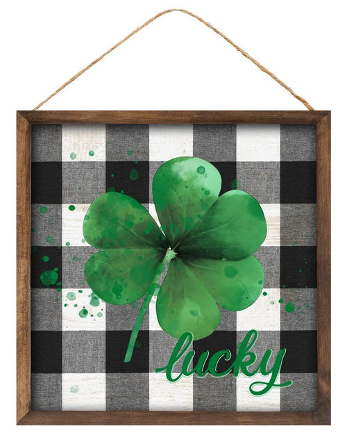 "10"" Lucky Shamrock Sign"
