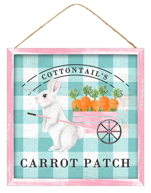 "10"" Cottontail's Carrot Patch Sign"