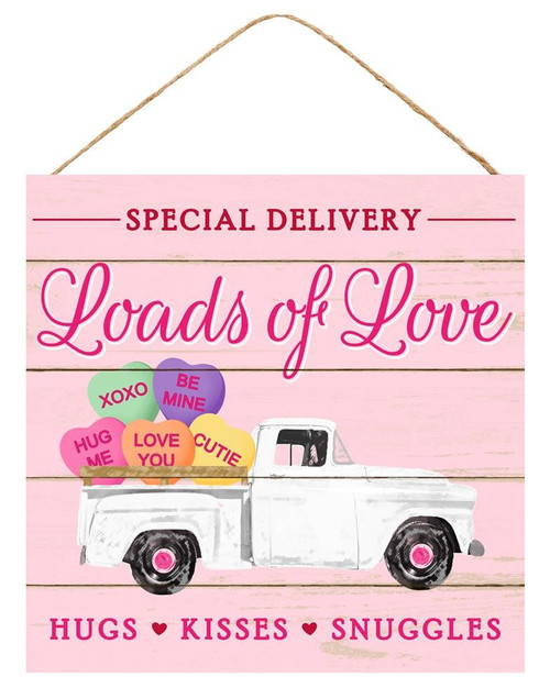 "10"" Loads of Love Truck & Heart Sign"