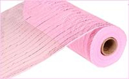 "10"" Deco Poly Mesh: Metallic Pink with Pink Foil"