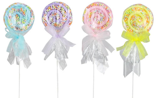 "13"" Wrapped Lollipops with Sprinkles"