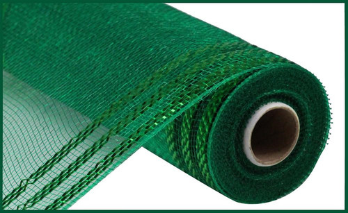 "10.5"" Metallic Border Mesh: Emerald Green"