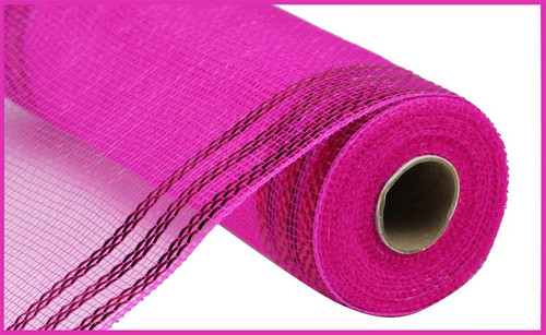 "10.5"" Metallic Border Mesh: Hot Pink"