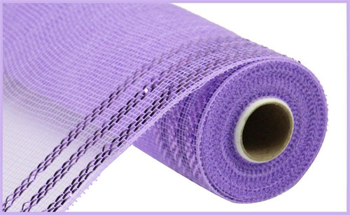 "10.5"" Metallic Border Mesh: Lavender"