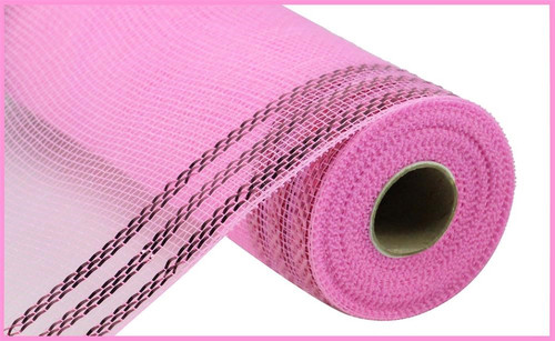 "10.5"" Metallic Border Mesh: Pink"