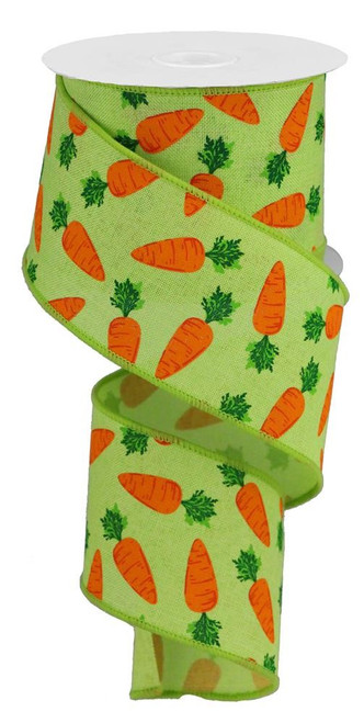 "2.5"" Carrot Ribbon: Bright Green - 10Yds"