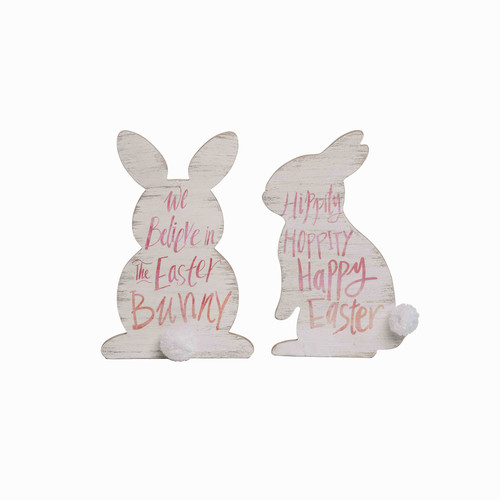 Wooden Easter Bunny Shaped Signs