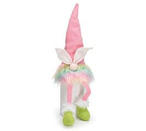 Rainbow Bunny Gnome Sitters w/ Dangle Legs