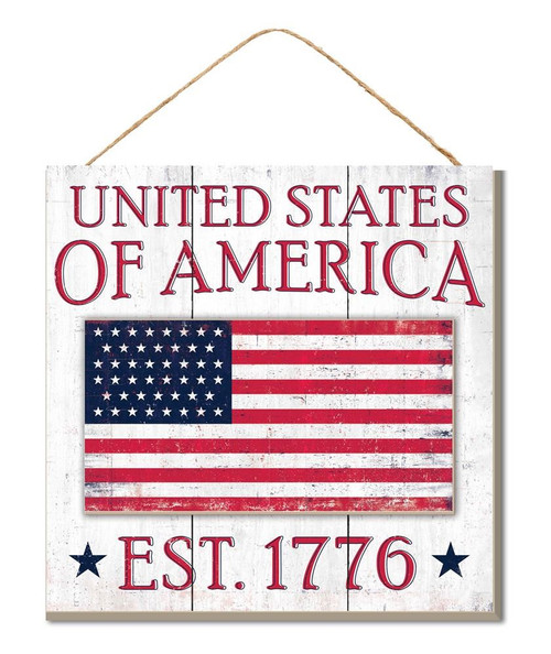 "10"" United States of America Sign"